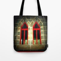 medieval Tote Bags featuring Medieval Windows by Chris' Landscape Images & Designs
