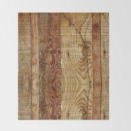 Wood Photography Throw Blanket