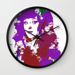 Rowena Splatter Wall Clock