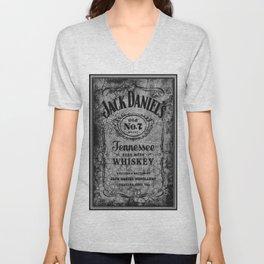 Whiskey On Wood BW Unisex V-Neck