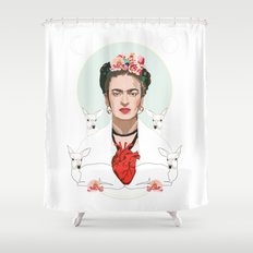 Frida Kahlo (Light) Shower Curtain