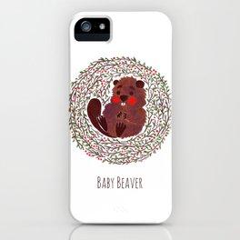 Baby Beaver iPhone Case