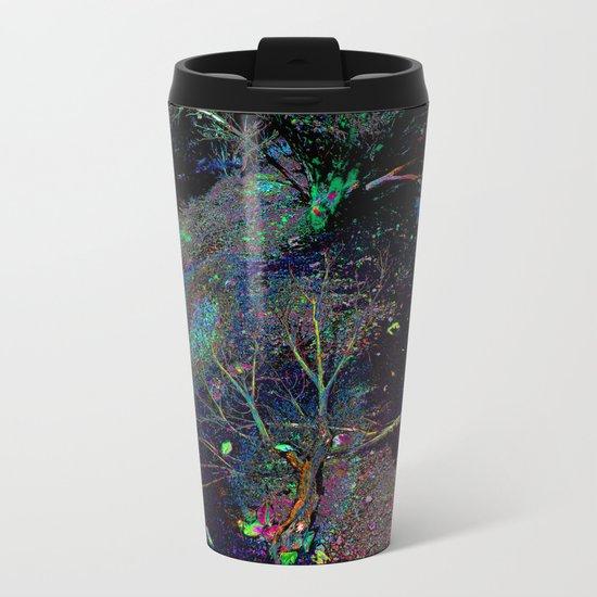Psychedelic Forest.... Metal Travel Mug