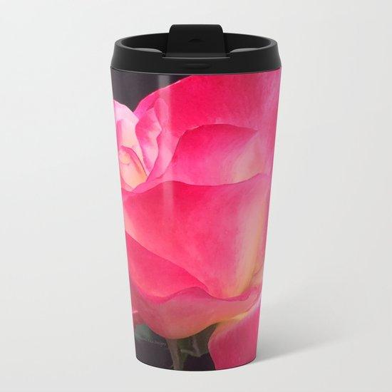 Grandma's Beautiful Rose Untouched Metal Travel Mug