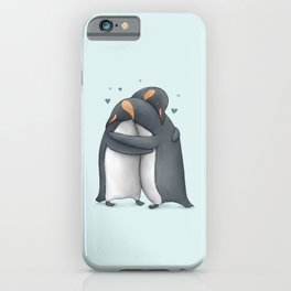 Penguin Hug iPhone Case