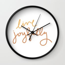 Live Joyfully Wall Clock
