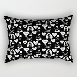 aspri petra white stone heart invert Rectangular Pillow