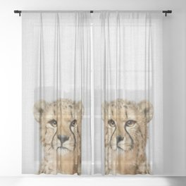 Cheetah - Colorful Sheer Curtain