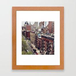 New York street views - Chinatown from Manhattan bridge Framed Art Print