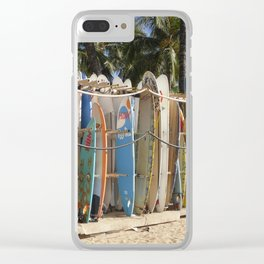 Surfin USA Clear iPhone Case