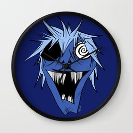 Monster Mash in Deep Blue Wall Clock