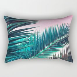 Nostalgic Palm Leaves on Pink #homedecor #buyart Rectangular Pillow