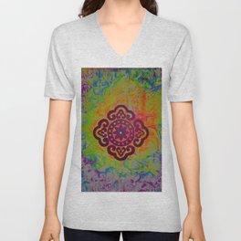 Rainbow Mandala Unisex V-Neck
