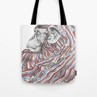 ape Tote Bags featuring Ape by Guillem Bosch