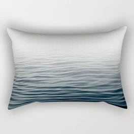 Misty Sea I - Abstract Waterscape Rectangular Pillow
