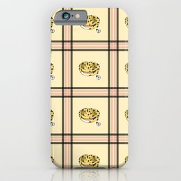 Leopard Gecko Plaid iPhone Case