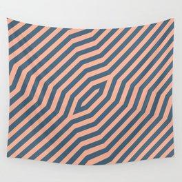 Symmetric diagonal stripes background 21 Wall Tapestry
