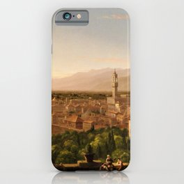 View of the Duomo and Florence, Italy by Thomas Cole iPhone Case