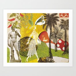 Profusion Collage Art Print