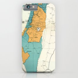Map of Palestine Plan of Partition with Economic Union iPhone Case