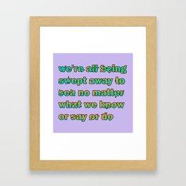 poetry print Framed Art Print
