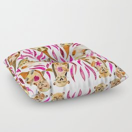 Otters – Pink Accents Floor Pillow
