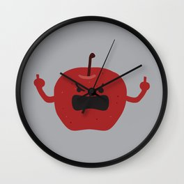 Ultra Angry Apple Wall Clock