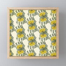 Kowhai Flowers Pattern Framed Mini Art Print