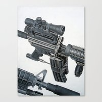 gun Canvas Prints featuring Gun by Fahrudin