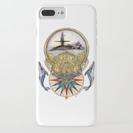 Whale of a Tale - Submarine with Silver Dolphins iPhone Case