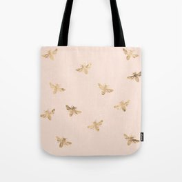 Busy Bees (Pink) Tote Bag
