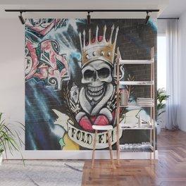 Las Vegas Skull Graffiti Wall Mural