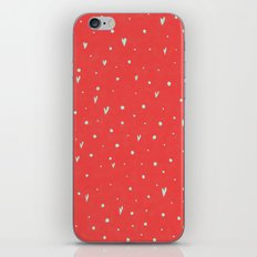 Coral Hearts iPhone & iPod Skin