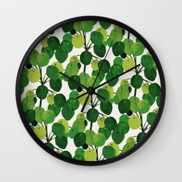 Pilea Peperomioides interior plant Wall Clock