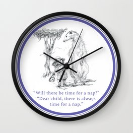 Time for a Nap Wall Clock
