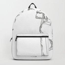 Cricket Batsman Batting Doodle Art Backpack