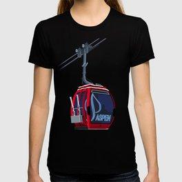 Aspen Colorado Ski Resort Cable Car T-shirt