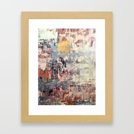 Mirage [1]: a vibrant abstract piece in pinks blues and gold by Alyssa Hamilton Art Framed Art Print