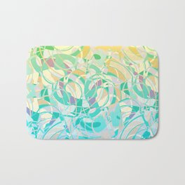 Summer Beach Days Abstract -  Yellows And Blues Bath Mat