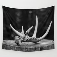 antler Wall Tapestries featuring Antler by Danielle Fedorshik