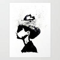 audrey Art Prints featuring Audrey by Christie Rainey