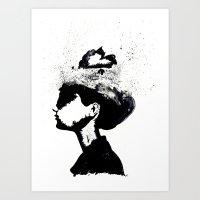 audrey Art Prints featuring Audrey by Christie Rainey