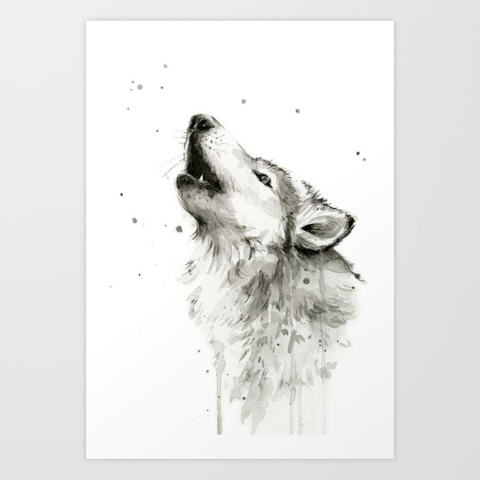 Image - Wolf-clipart-picture-black-and-white-wolf-clipart ... |White Wolf And Black Wolf Art