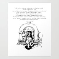The Cat is Cryptic Art Print