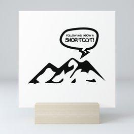 Hiking Tourguide Mountaineer Leader Gift Mini Art Print