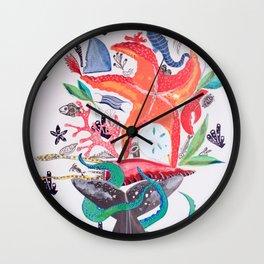 Wedding Bouquet Wall Clock