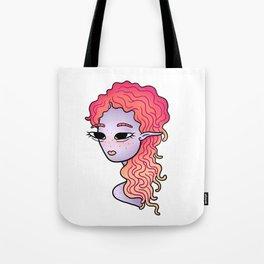 alien head illustration Tote Bag
