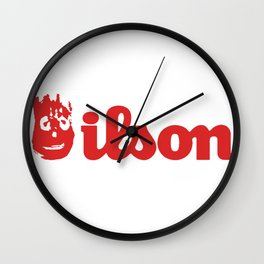 Wilson. Cast away on a deserted remote island Wall Clock