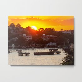 Sunset on Snails Bay, Birchgrove, Sydney Metal Print