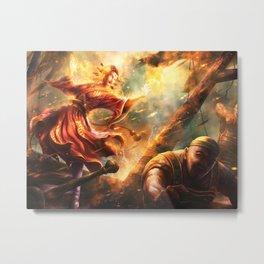 Fire Kami's Greed Metal Print
